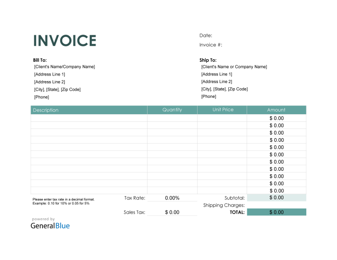 Purchase Invoice in PDF (Colorful)
