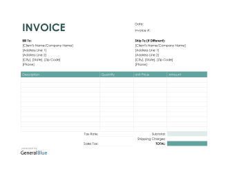 Purchase Invoice in Word (Colorful)