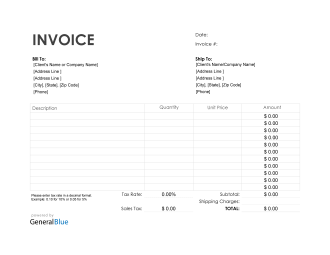 Purchase Invoice in Excel (Simple)