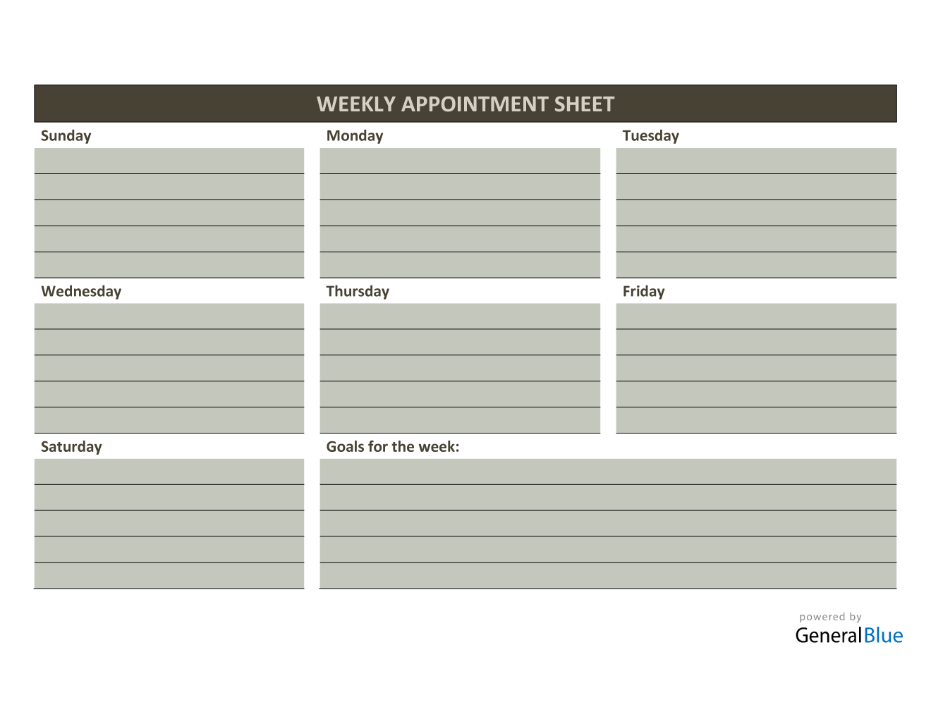 Weekly Appointment Sheet Template in Word (Colorful) Throughout Appointment Sheet Template Word